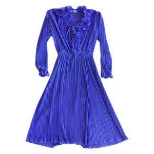 Purple Frills Dress mod 60s vintage